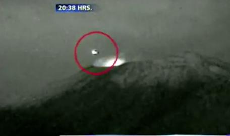 Di nuovo un ufo sembra atterrare nel cratere del - Atterrare prima del tempo caratteri ...