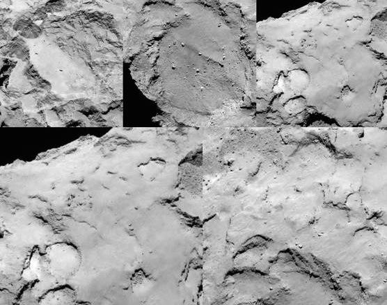 Rosetta individuati 5 possibili siti per atterrare sulla - Atterrare prima del tempo caratteri ...