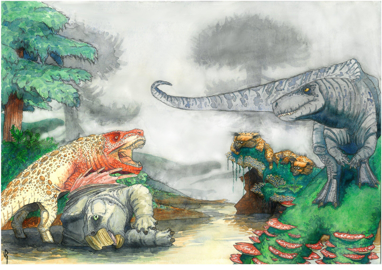Datazione del radiocarbonio delle ossa di dinosauro